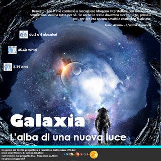 La copertina del regolamento di Galaxia
