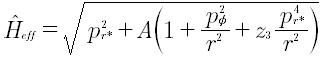 Il modello di Hamiltoniana introtto dal EOB Model