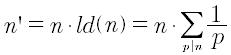 Derivata aritmetica di un numero intero