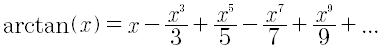 Sviluppo in serie di taylor della funzione arcotangente