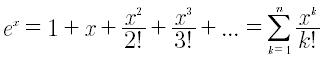 Sviluppo in serie di taylor della funzione esponenziale