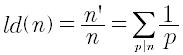 Derivata logaritmica di un numero intero